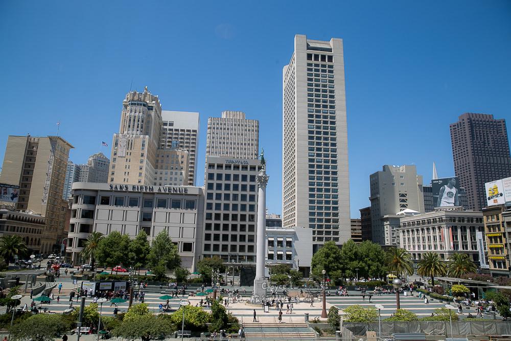最佳眺望舊金山聯合廣場 推薦Macy`s 8樓 The Cheesecake Factory 與4樓 Starbucks
