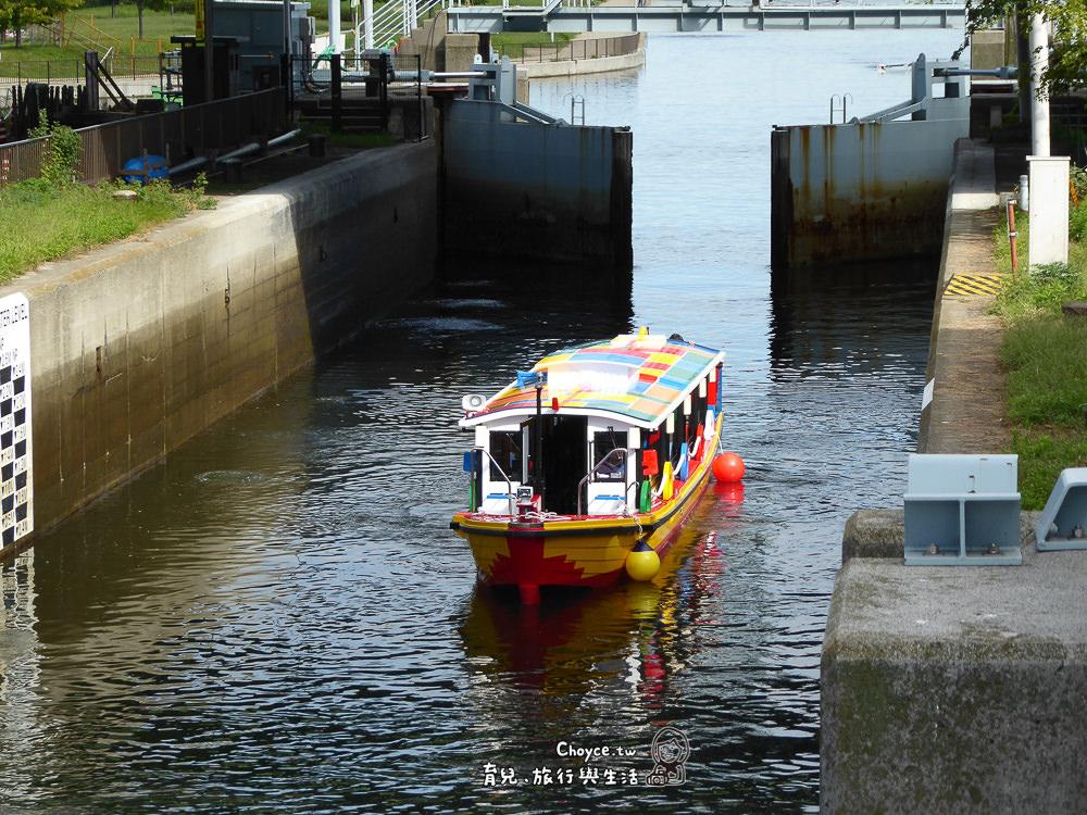 171008中川口通船門より北を望む