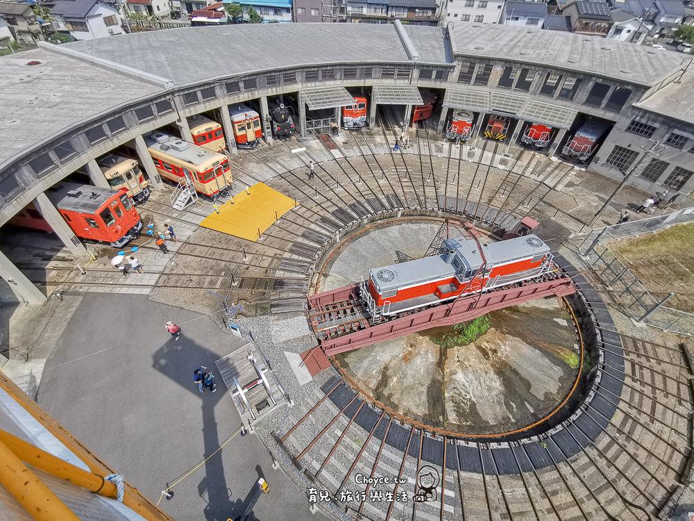親子遊岡山 津山鐵道教育館 日本第二大扇形火車庫 從20公尺高空眺望津山鐵道館