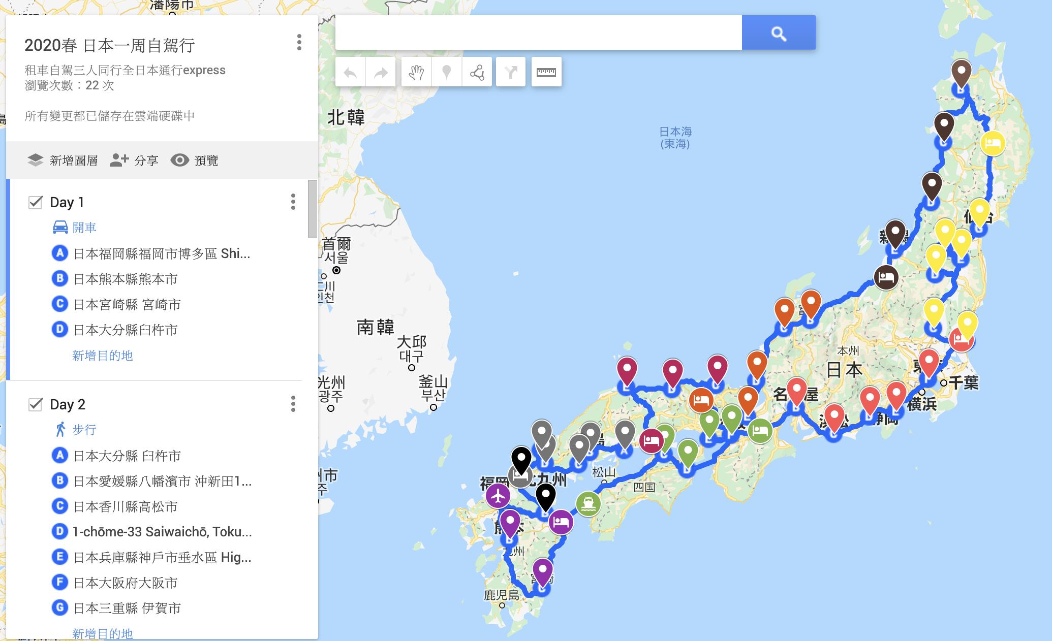 日本環島一周九日