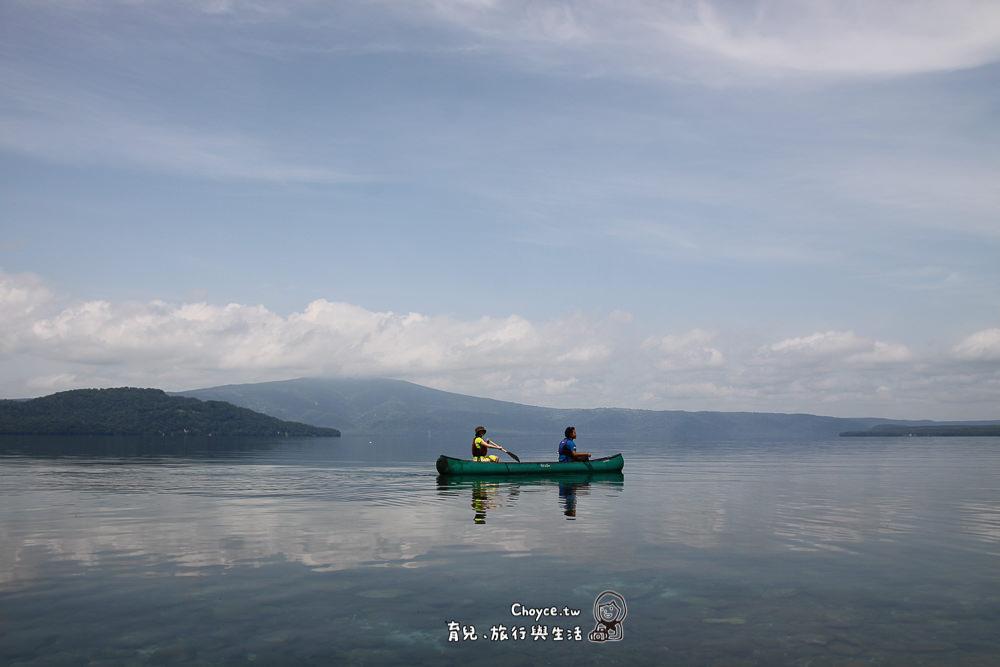 canoeing on Lake Kussharo 屈斜路湖独木舟2