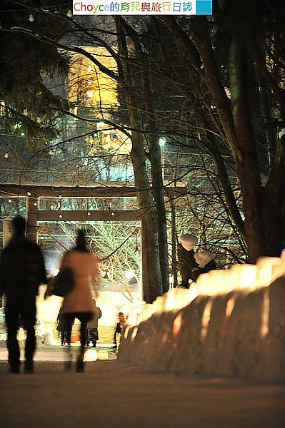 定山渓温泉雪灯路[ユキトウロ]+参道