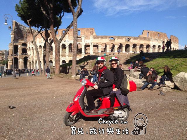 (歐洲) 外國人正夯 BICI BACI 騎偉仕牌玩轉羅馬!(腳踏車,飛雅特500出租)VESPA & FIAT 500 TOURS