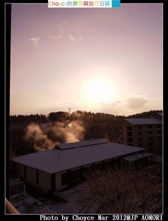 (日本) 青森縣 八戶青森屋 古牧温泉渋沢公園 天氣晴朗之雪中散策