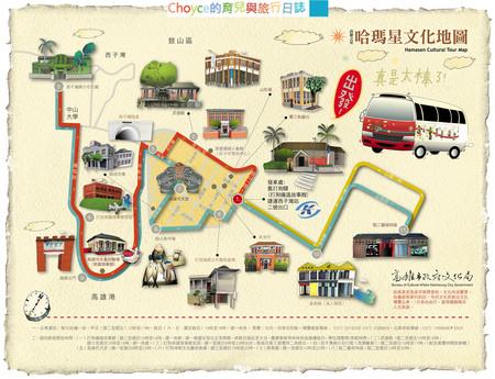 高雄哈瑪星銀化公車路線圖(取自高雄文化局網站)