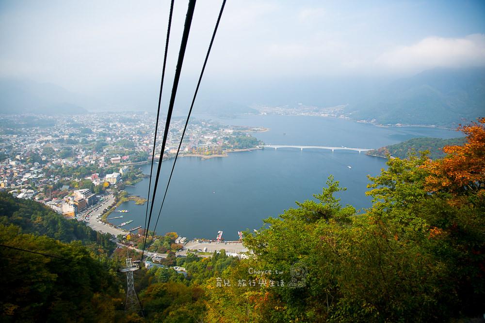 (日本山梨縣) 搭卡奇卡奇山纜車登高 天上山眺望河口湖@カチカチ山ロープウェイ