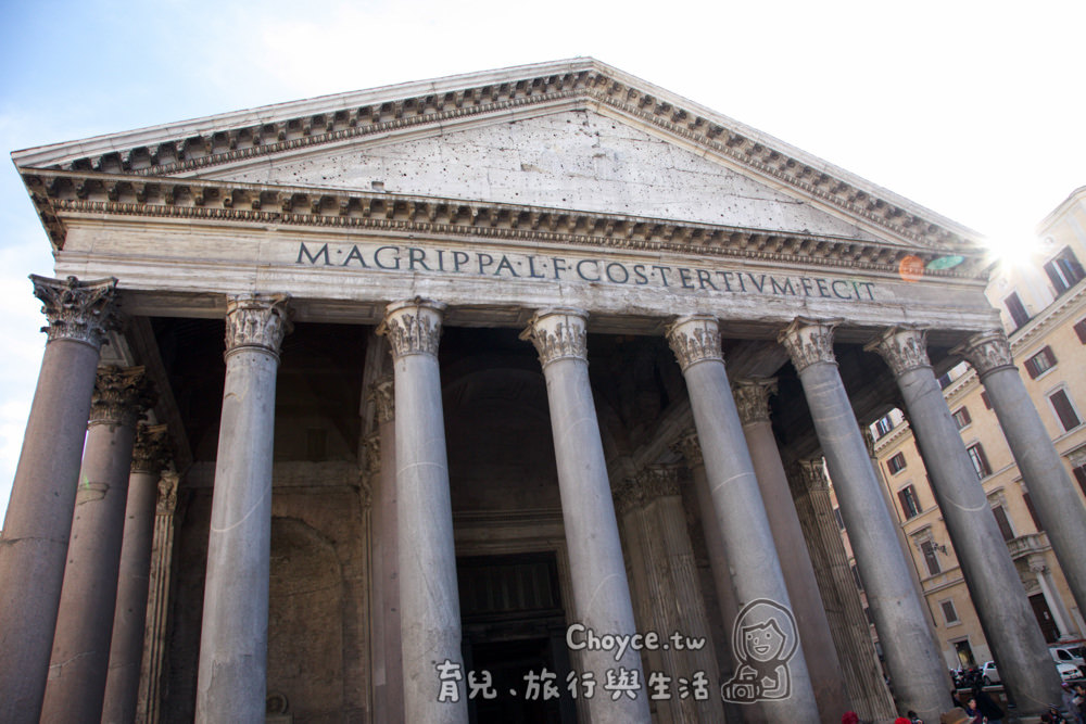 (歐洲) 義大利行旅 Pantheon羅馬萬神殿 科學,人文,藝術,天文與宗教集大成 未來科學家搭時光機返回古羅馬?