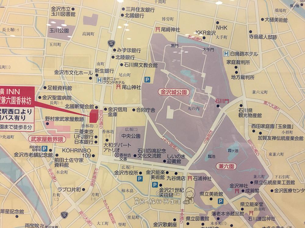 金澤住宿推薦 經濟實惠地點絕佳 東橫inn兼六園香林坊