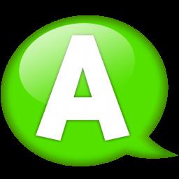 speech-balloon-green-a-icon