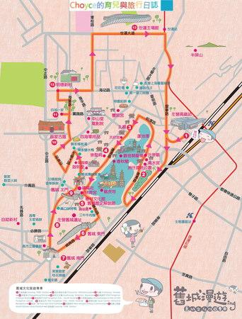 舊城文化公車路線圖(取自高雄文化局官網)